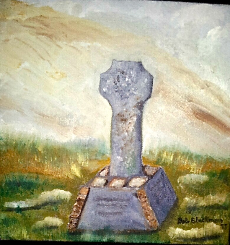 """Famine Monument"" original fine art by Bob Blackmon"