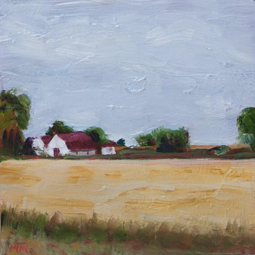 """Illinois Farm"" original fine art by Maria McNitt"