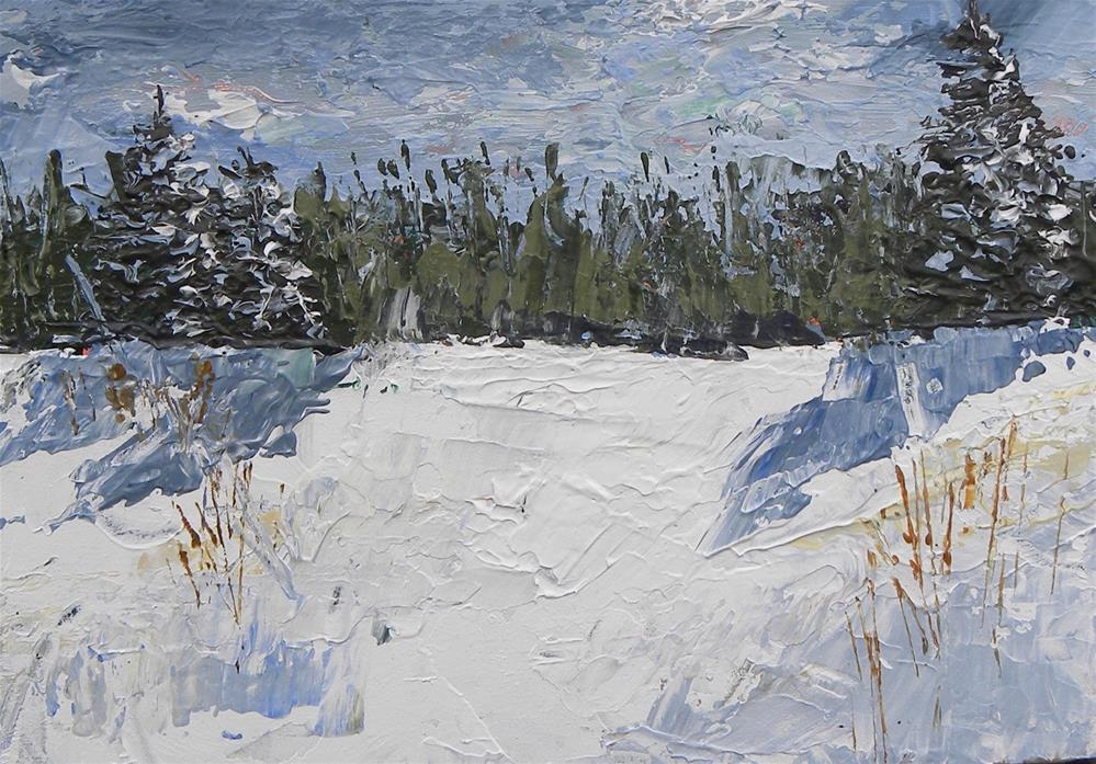 """Snowy Ridge"" original fine art by cheryl buhrman"