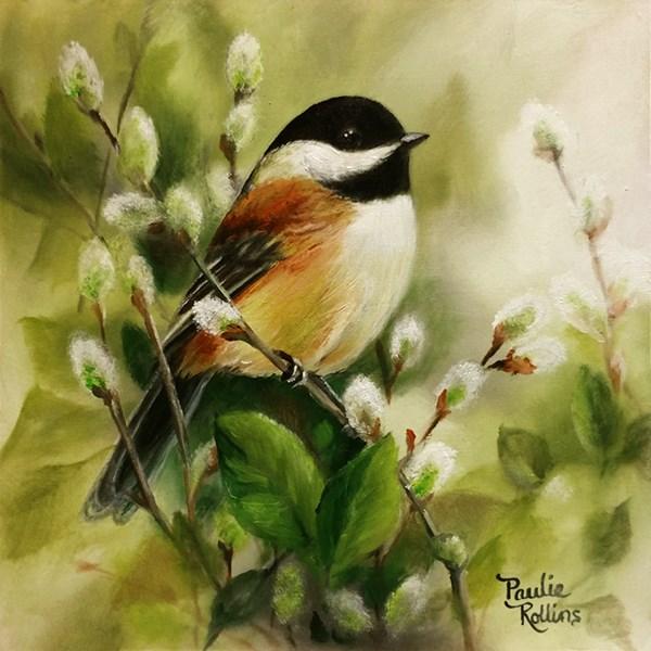 """Springtime Fuzzies"" original fine art by Paulie Rollins"