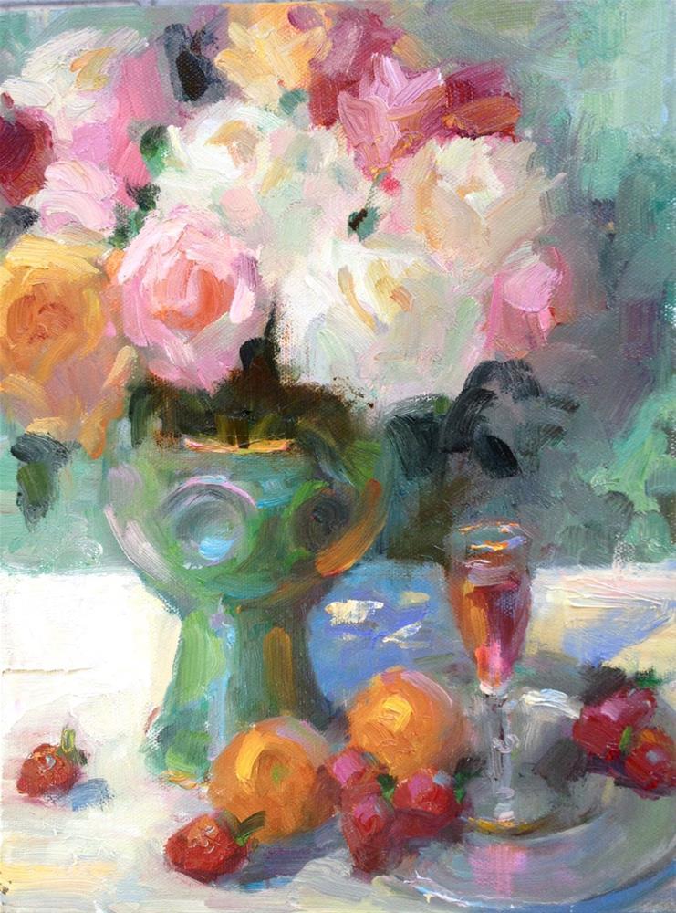 """""""Sunday Lunch"""" original fine art by Johanna Spinks"""