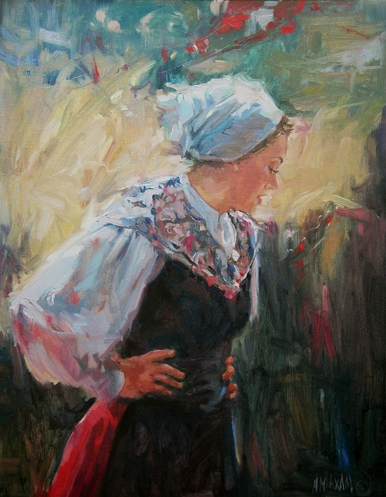 """Basque Dancer II"" original fine art by Mary Maxam"