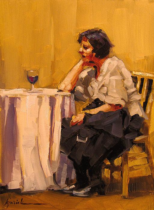 """Wine Cooler"" original fine art by Karin Jurick"