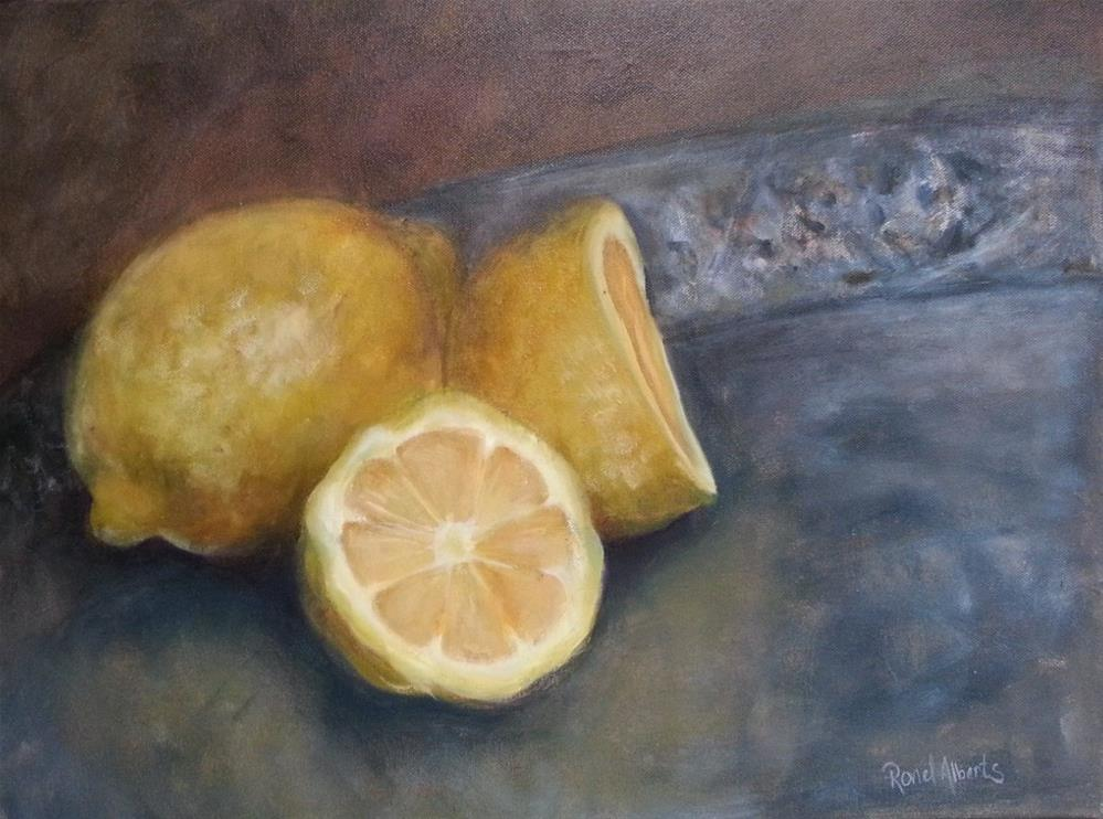 """Juicy lemons"" original fine art by Ronel Alberts"