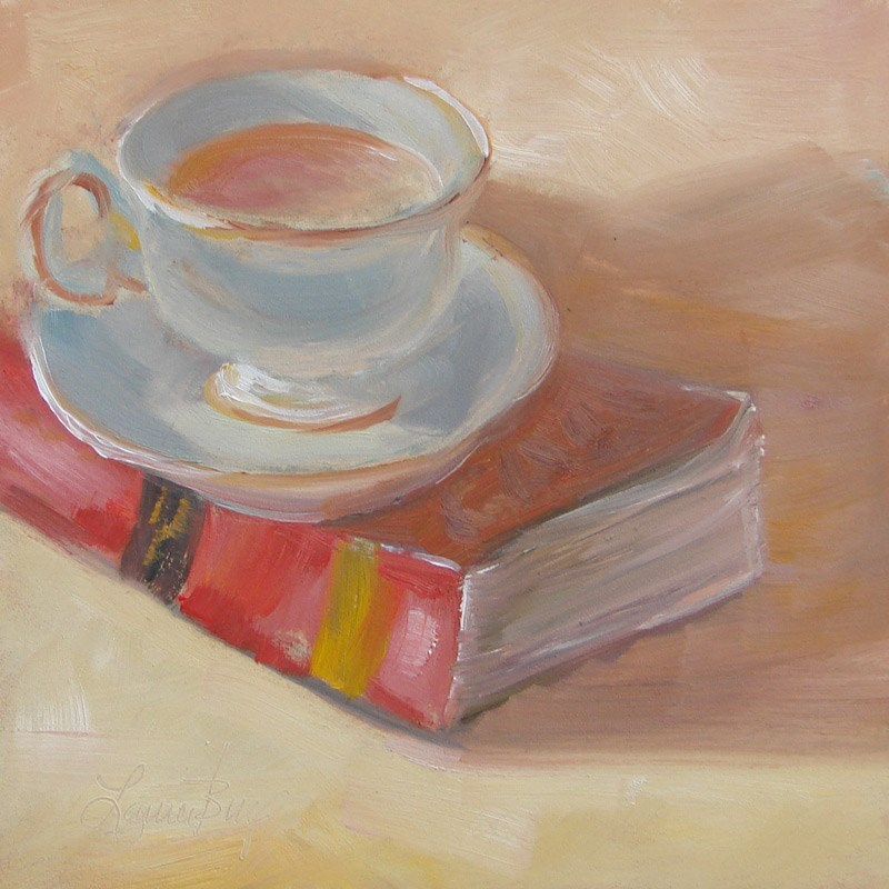 """Cup of Tea 280"" original fine art by Laura  Buxo"