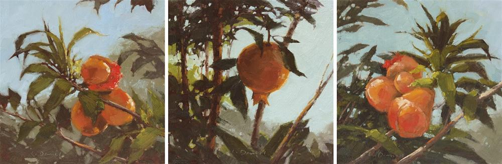 """Fruits of the Garden & Upcoming Exhibit!"" original fine art by Laurel Daniel"