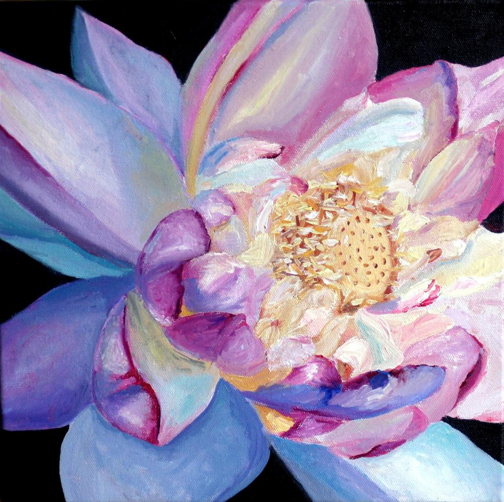 """Flower for Japan"" original fine art by Kristen Dukat"