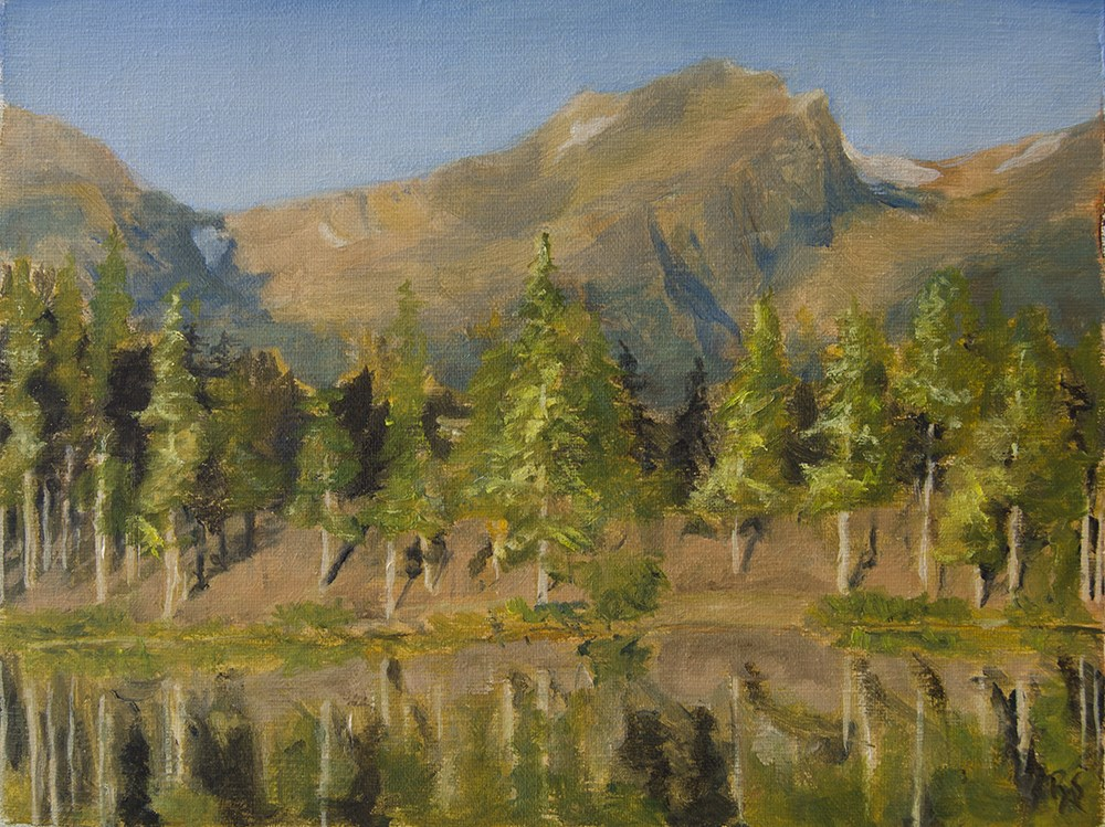 """Sprague Lake II"" original fine art by Rachel Steely"