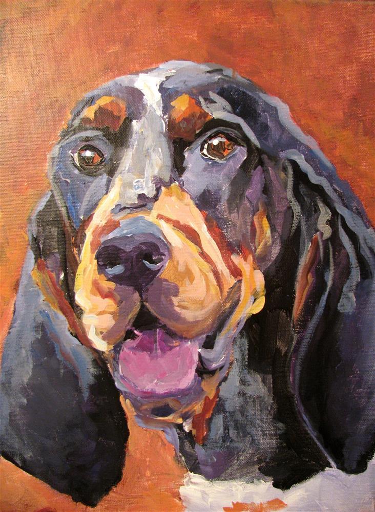 """Tennessee Blue Tick"" original fine art by Susan Elizabeth Jones"