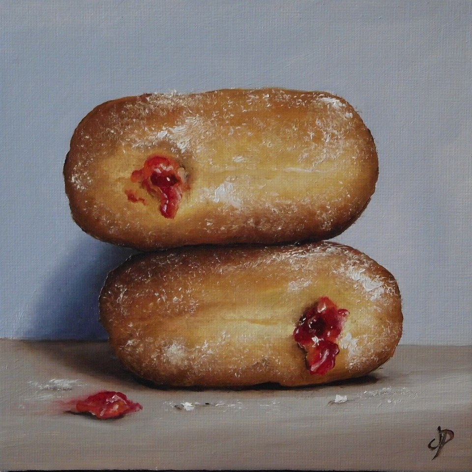 """Jam Donuts #12"" original fine art by Jane Palmer"
