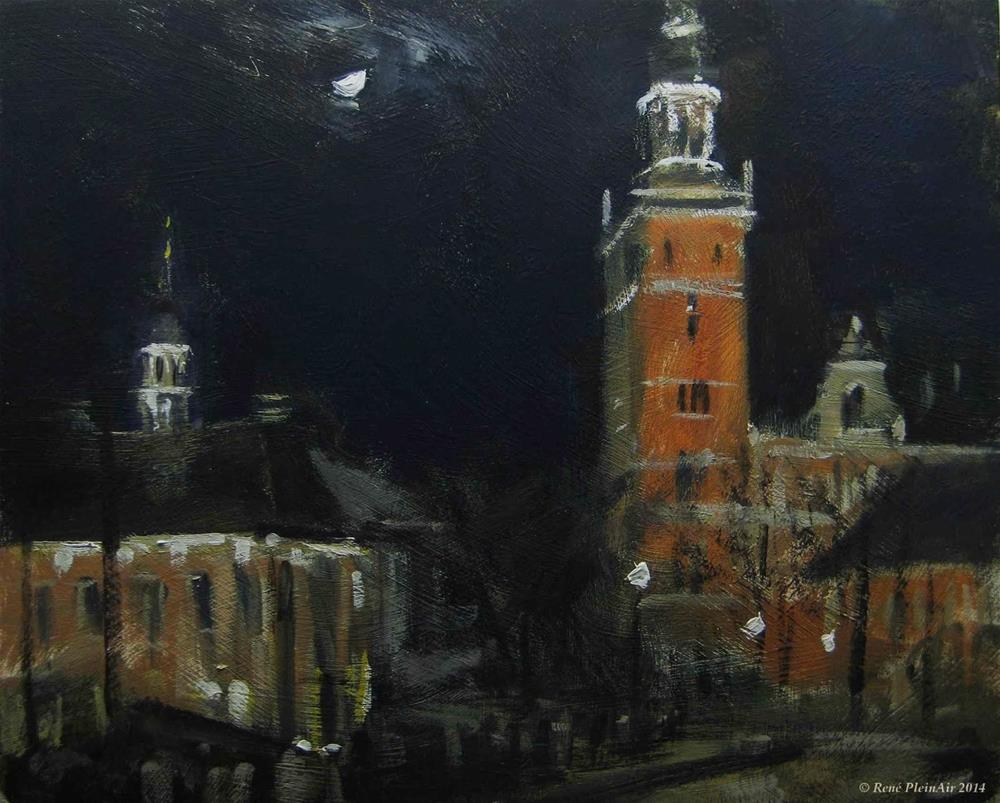 """Leer at night. Leer, Germany."" original fine art by René PleinAir"