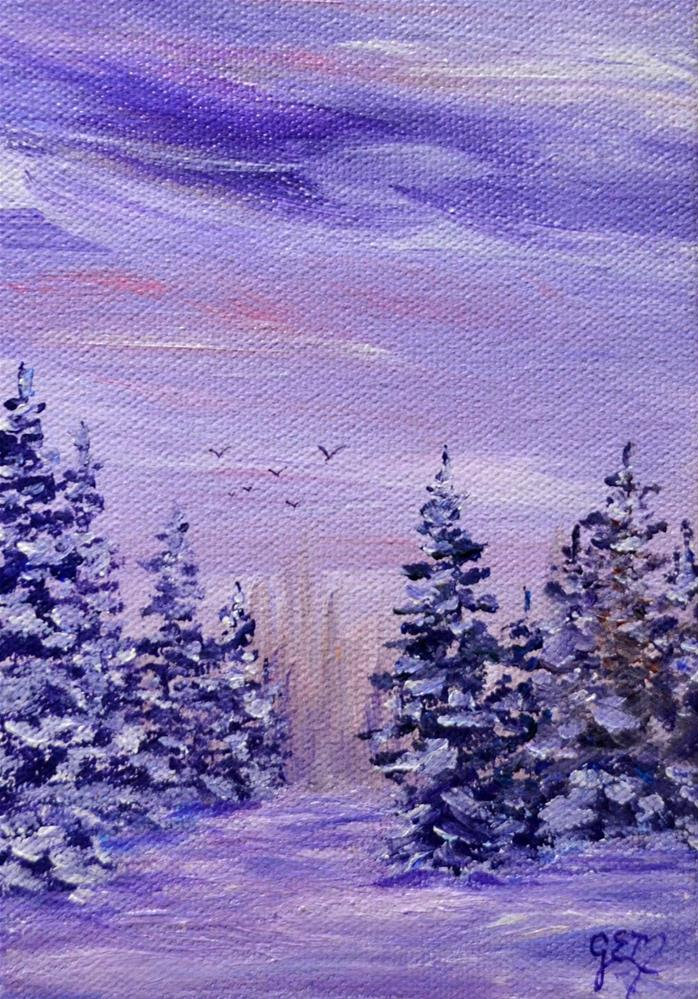"""Everpurples"" original fine art by Gloria Ester"