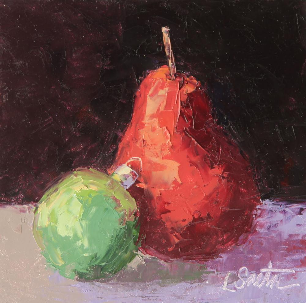 """""""Merry Christmas!"""" original fine art by Leslie Saeta"""