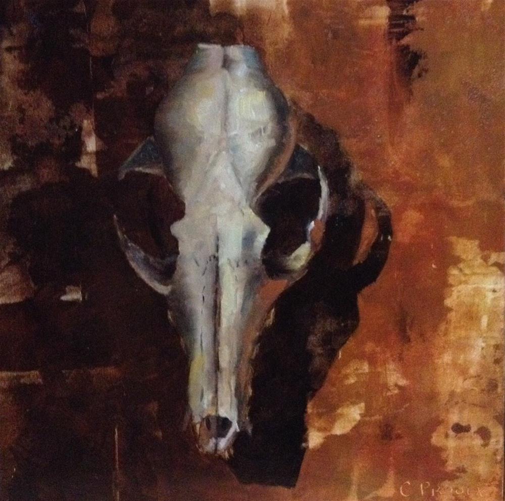"""""""Fox Skull No. 2"""" original fine art by Cory Proulx"""