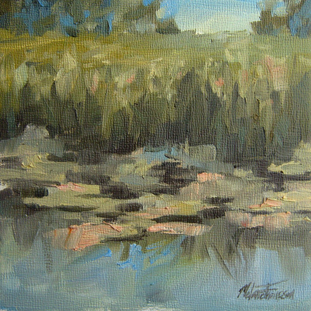 """Afternoon Pond"" original fine art by Melanie Thompson"