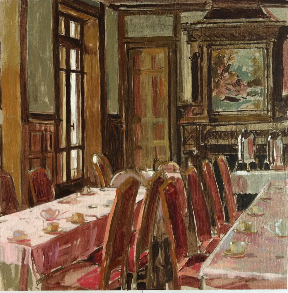"""Salle a manger"" original fine art by Haidee-Jo Summers ROI"