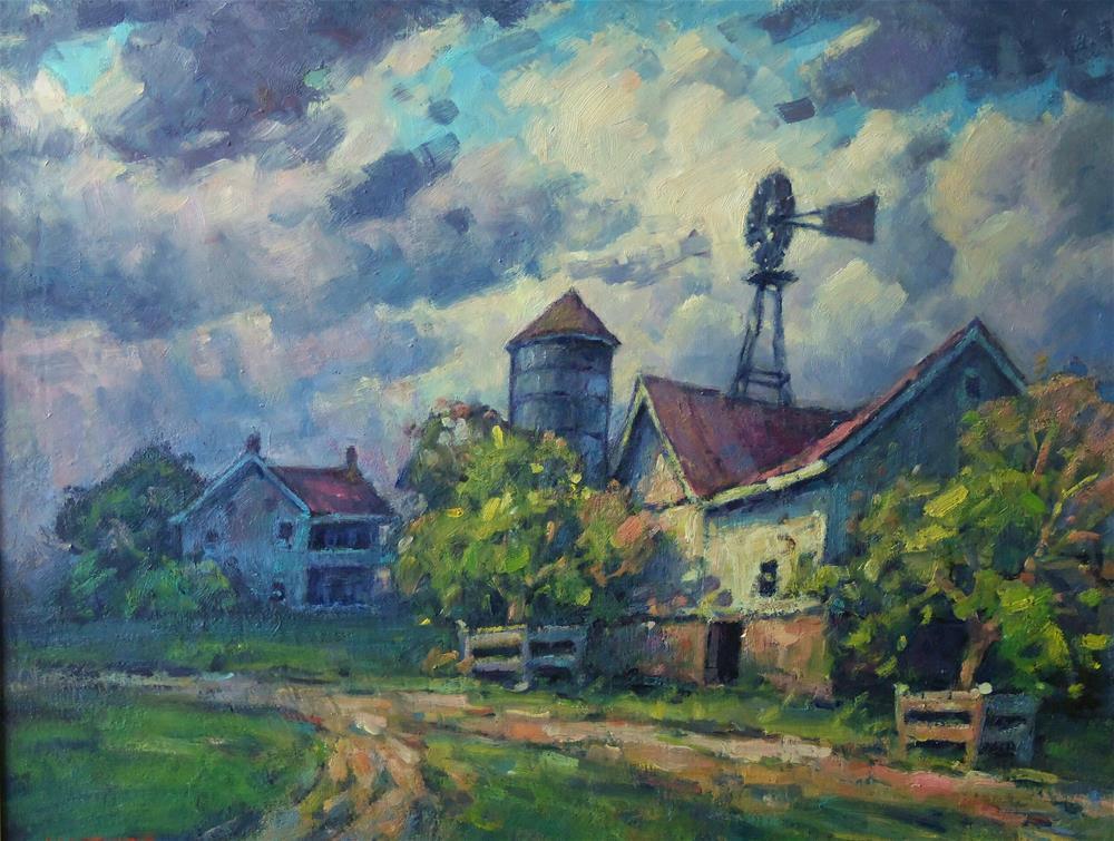 """""""Windmill"""" original fine art by J Scott Wolf"""