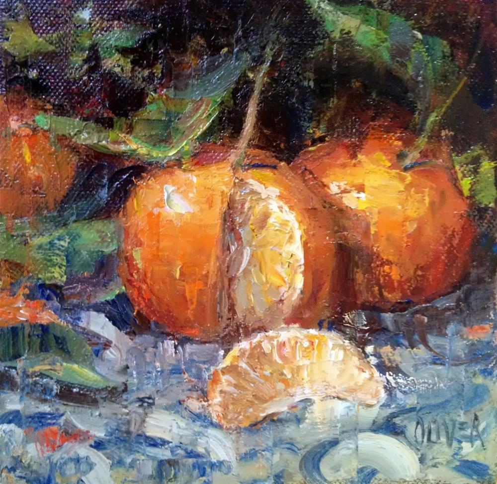 """Clementine Glow"" original fine art by Julie Ford Oliver"