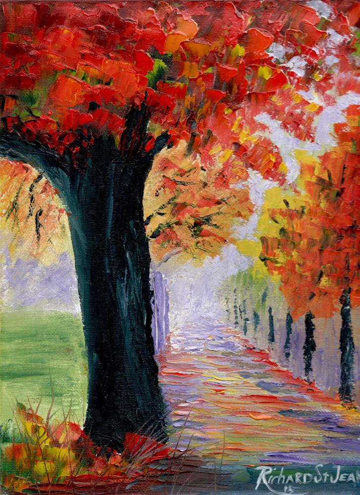 """Autumn Day"" original fine art by Richard St.Jean"