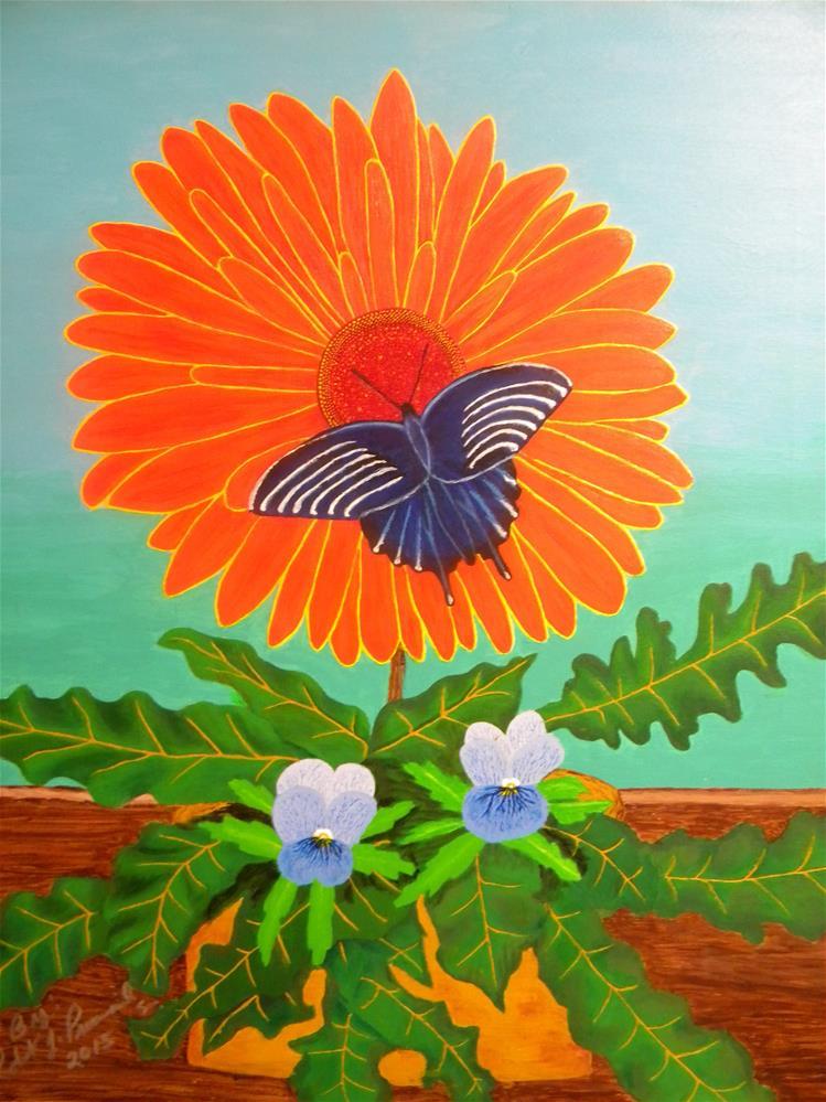 """""""Sunshine Butterfly"""" original fine art by Robert Provencial"""