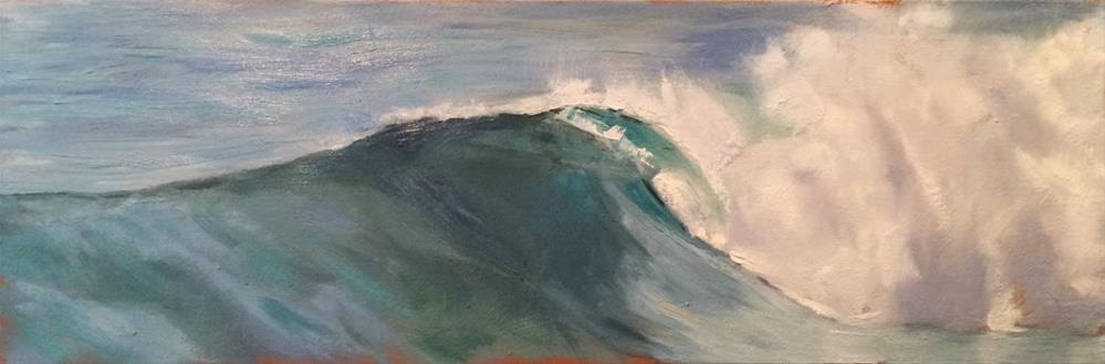 """Long Wave"" original fine art by Deborah Newman"