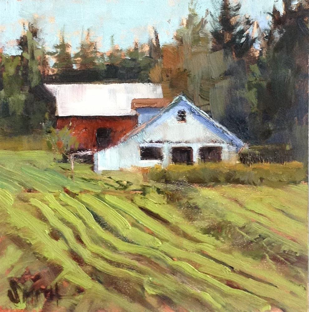 """Farm and Field"" original fine art by Barbie Smith"