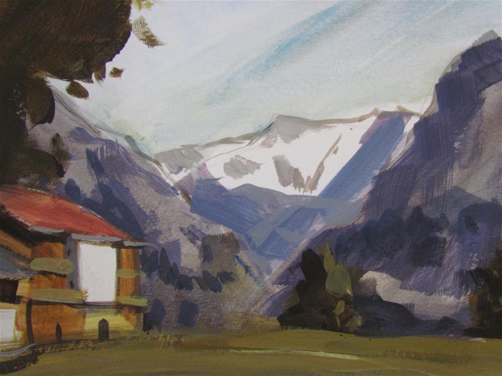 """""""chalet"""" original fine art by gilles Poulizac"""