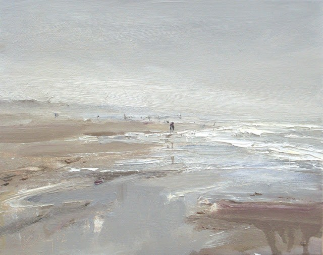 """Seascape winter #21 Splendid sea grey"" original fine art by Roos Schuring"
