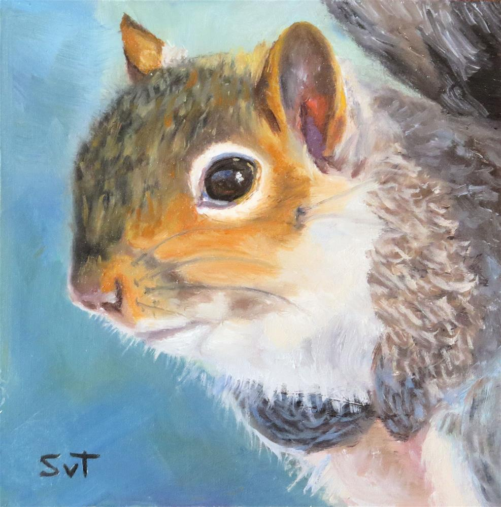 """More please"" original fine art by Sue van Tonningen"