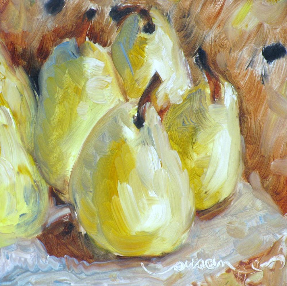 """Autumn Pears"" original fine art by Susan Elizabeth Jones"