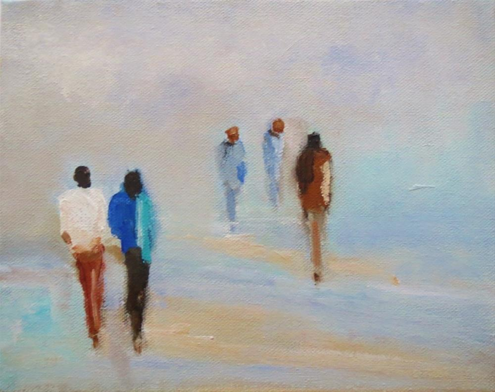 """Time together (beach walk)"" original fine art by Astrid Buchhammer"
