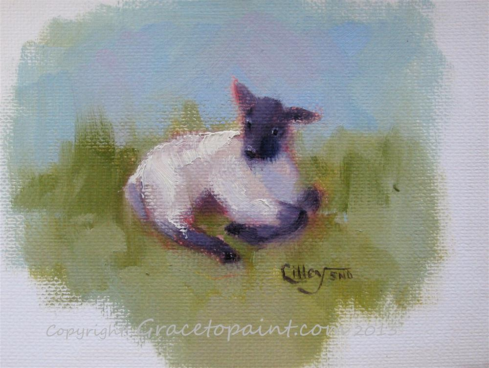 """Lamb #1"" original fine art by Maresa Lilley"