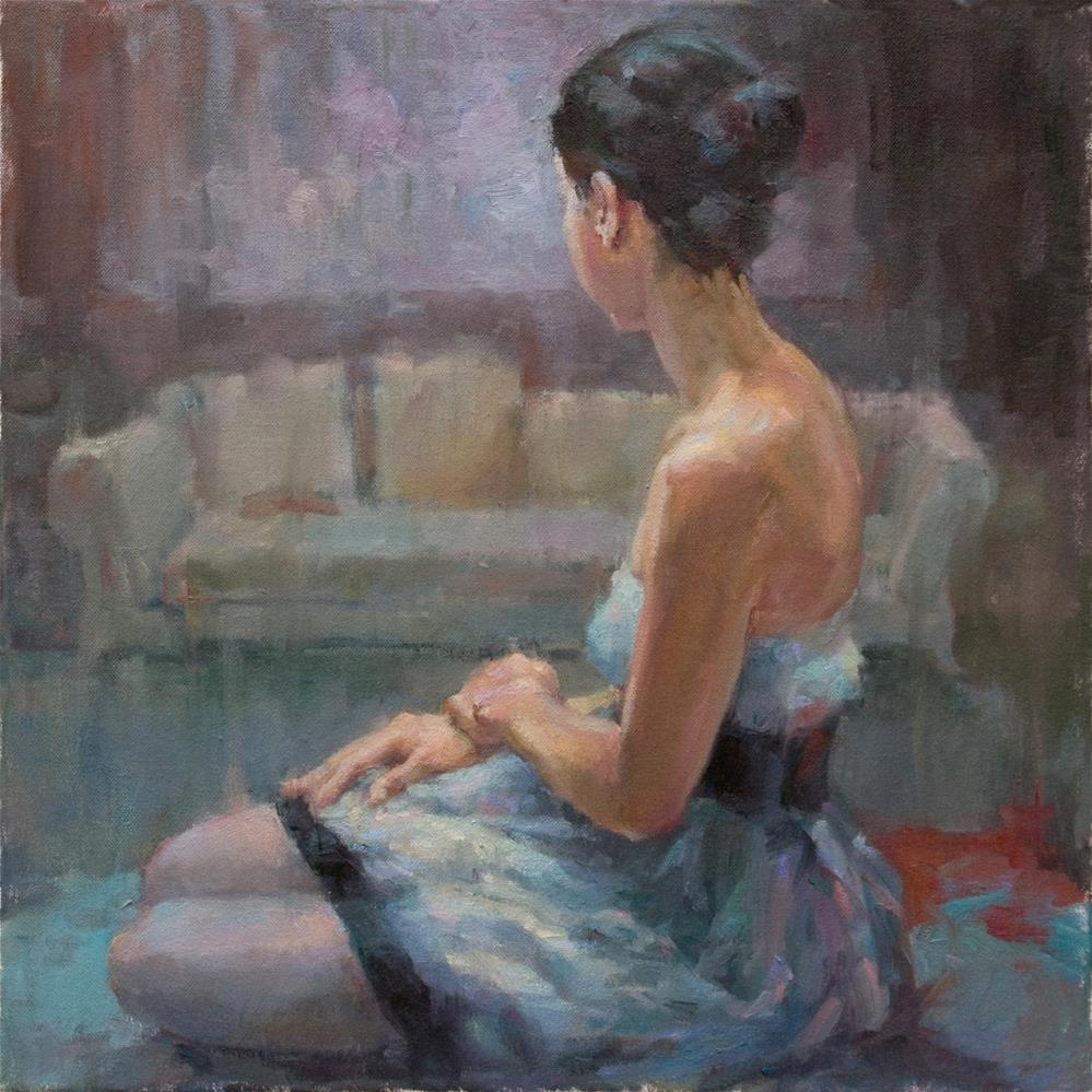 """Blue Afternoon"" original fine art by Julie Snyder"