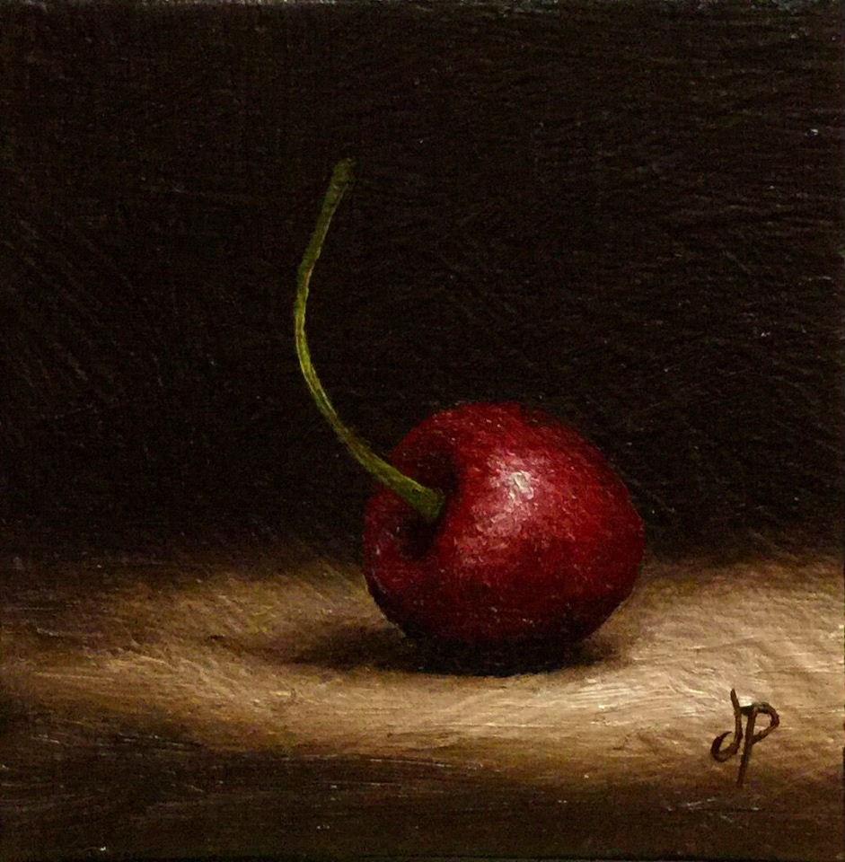 """another cherry"" original fine art by Jane Palmer"