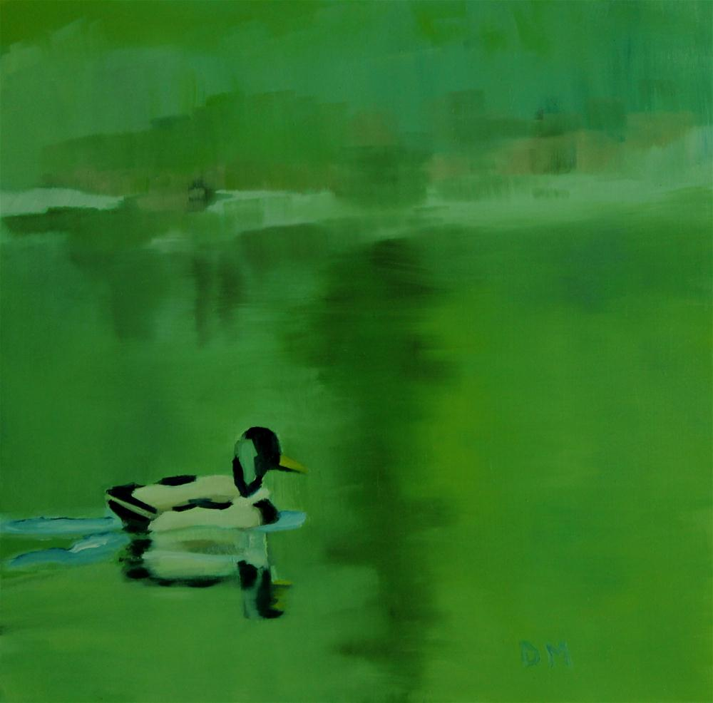 Duck original fine art by Darlene Mowatt