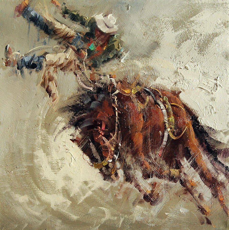 """horse rodeo riding"" original fine art by Mostafa Keyhani"