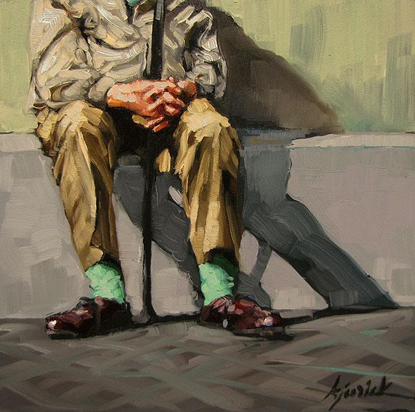 """Minty Fresh"" original fine art by Karin Jurick"