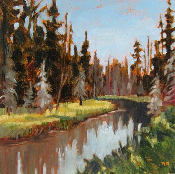 """""""Kingsmere River"""" original fine art by Nicki Ault"""