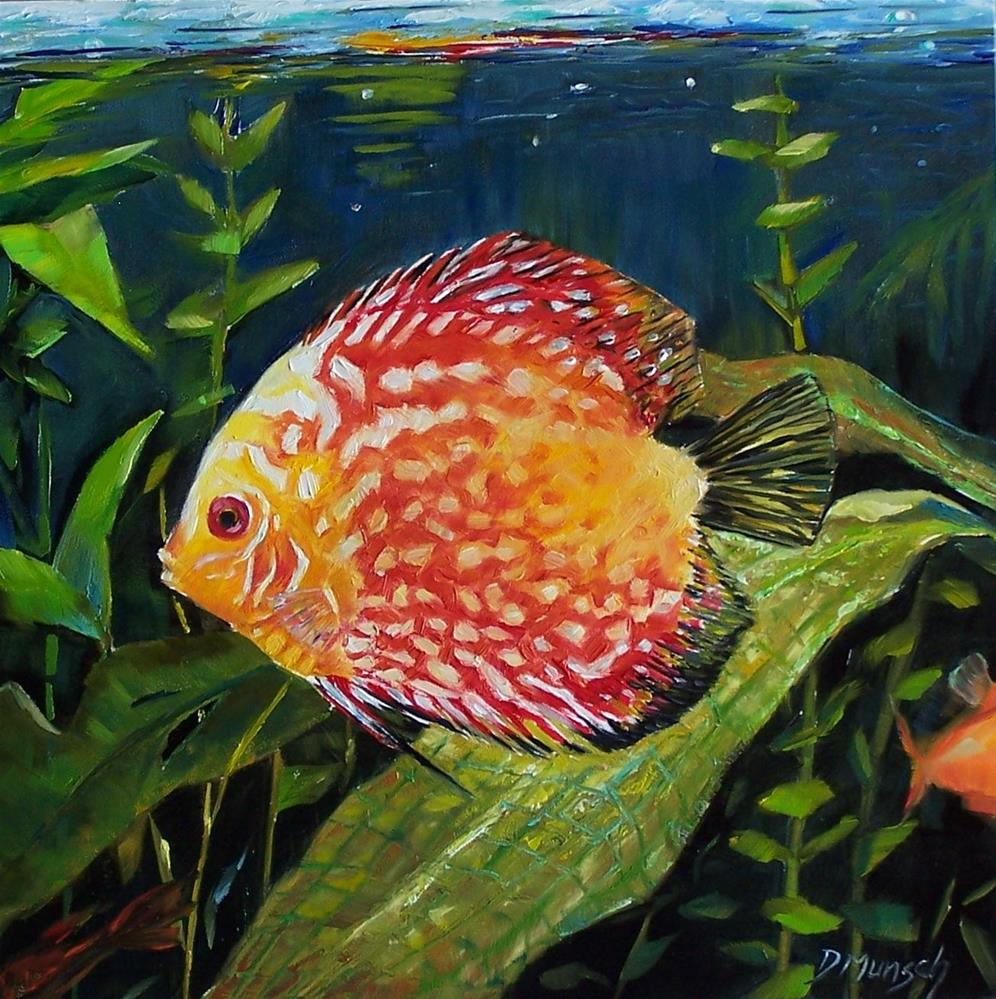 """Spotted Tropical Fish"" original fine art by Donna Munsch"
