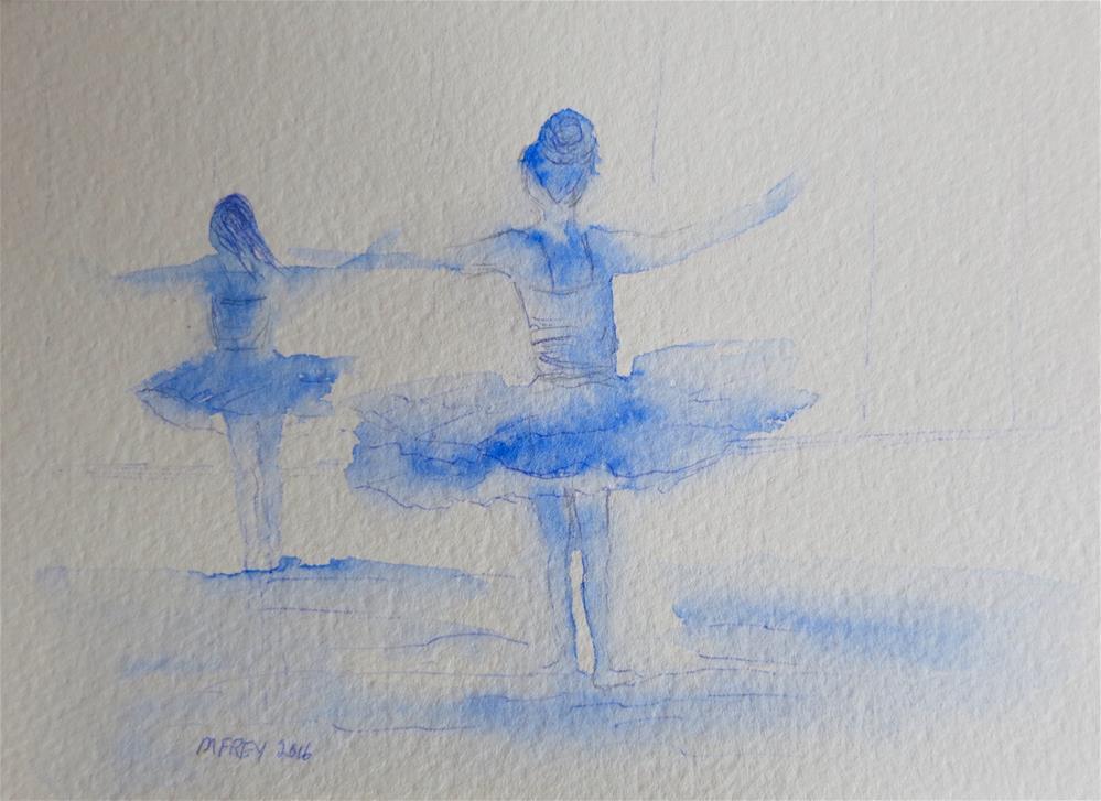 """Two Dancers 097"" original fine art by Michelina Frey"