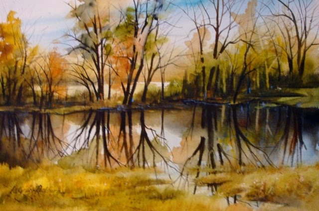 """Fall Reflections"" original fine art by Kathy Los-Rathburn"