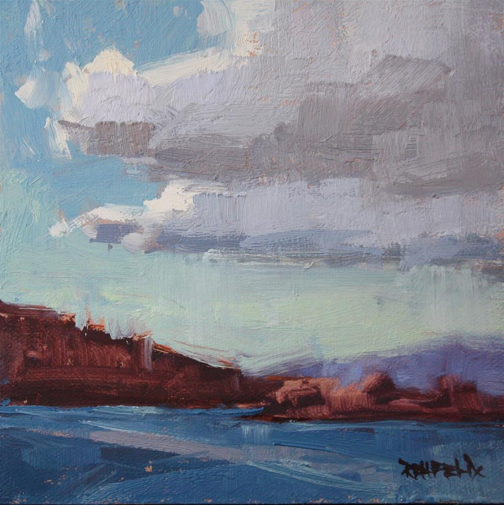 """Columbia Gorge River Clouds"" original fine art by Cathleen Rehfeld"