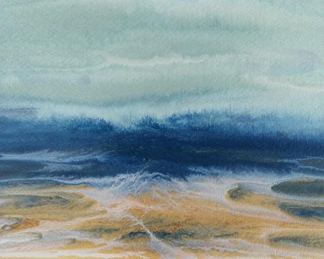 """Abstract Seascape,Coastal Abstract Art Royal Wave - Study #12 by International Contemporary Artist"" original fine art by Kimberly Conrad"