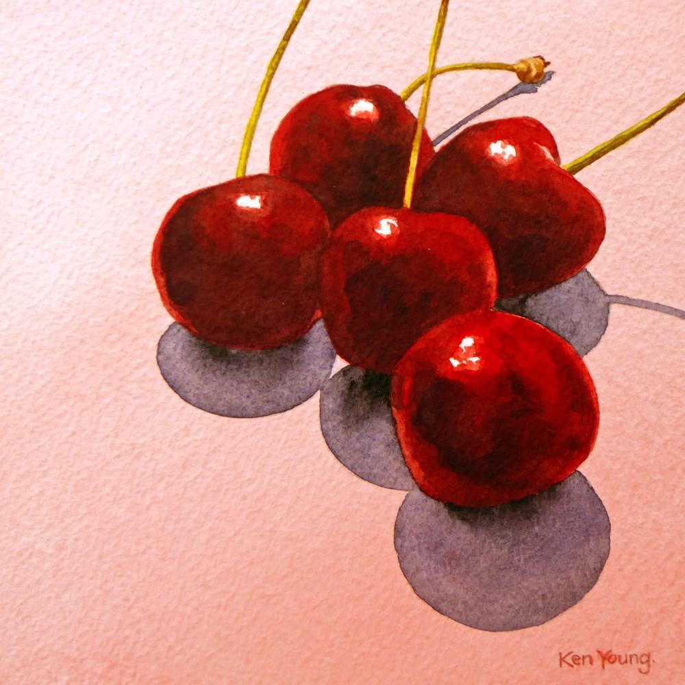 """""""Cherry Pink"""" original fine art by Ken Young"""