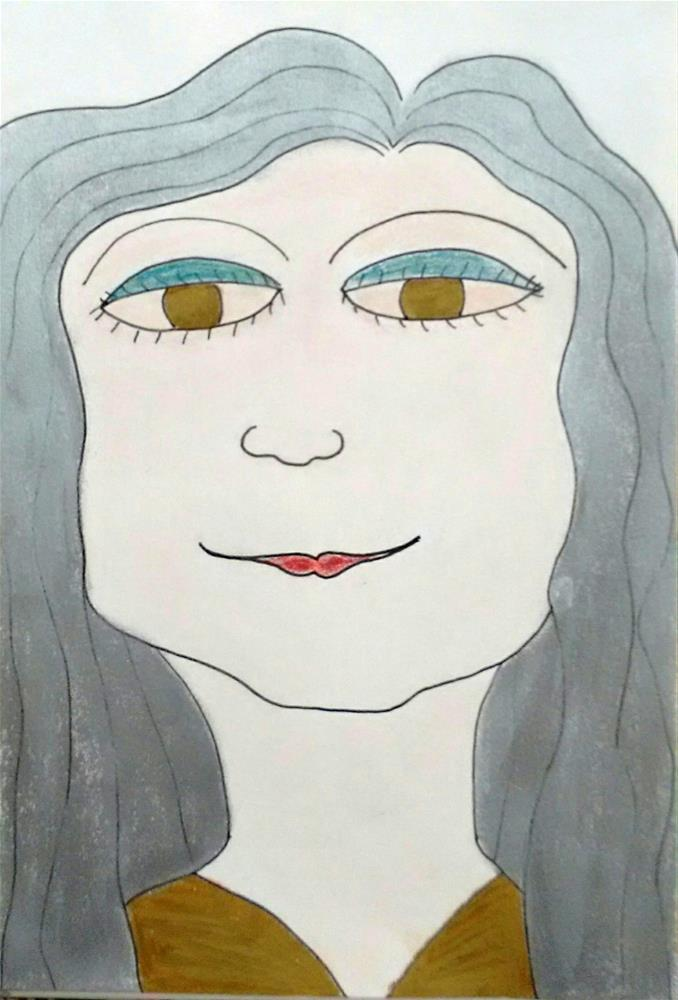 """""""Alexa"""" original fine art by Adéla Svobodová"""