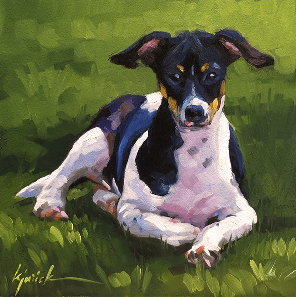 """Joey"" original fine art by Karin Jurick"