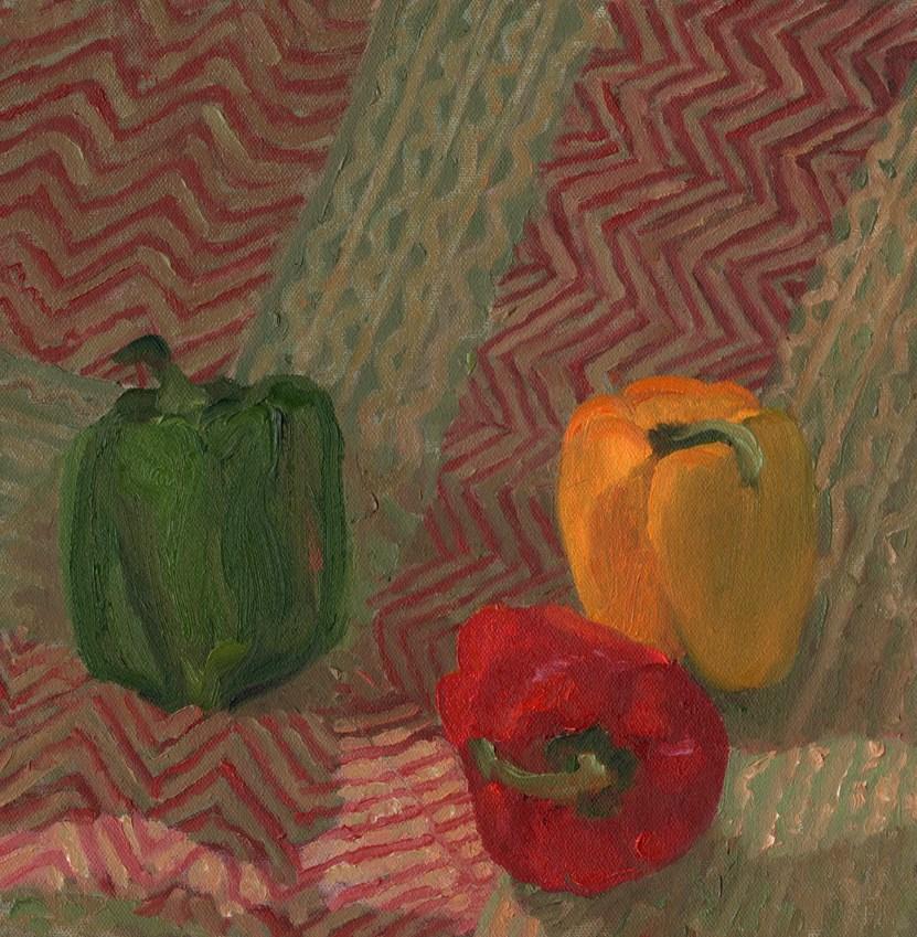 """Peppers"" original fine art by Nancy Herman"