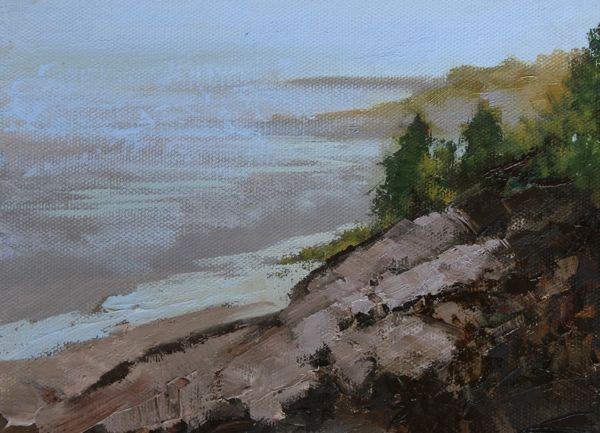 """Landscape, Seascape Oil Painting Maine-Study #8 by Colorado Landscape Artist Susan Fowler"" original fine art by Susan Fowler"
