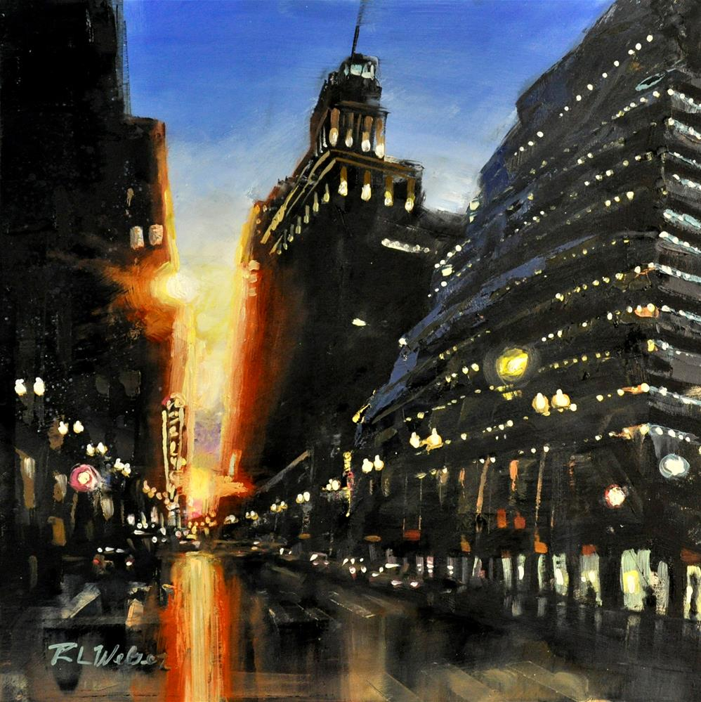 """Twighlight on Randolph"" original fine art by Rl Weber"