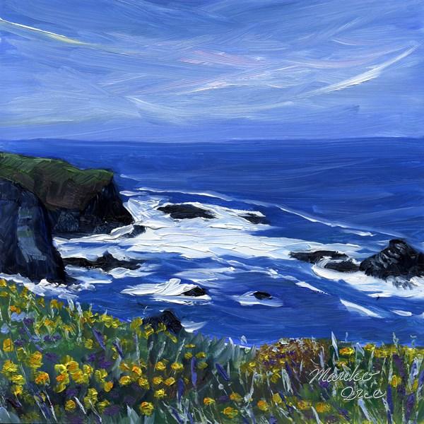 """Spring Coast"" original fine art by Mariko Irie"